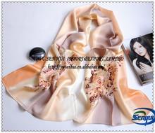 La moda de las señoras 100% de poliéster impresa pashmina mantón bufanda