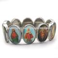 Aleación medalla san pulsera, católica pulsera, pulsera santo. Jbh5346-104