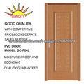 Non-pintura puerta interior con la laminación del PVC SC-P002