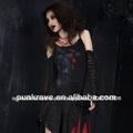 Punk rave venta al por mayor de rock gótico negro q-126 vestidos