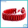 moda red gemstone talão tubo wrap pulseira