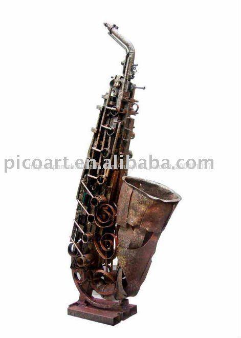Instrumento musical de arte de la escultura ( saxófonos/saxos )