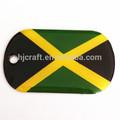 jamaica bandera del país epoxi etiqueta de perro
