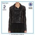 ama de celebridades de moda de cuero corto de encaje negro chaqueta para las mujeres