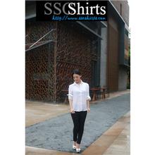 2014 100% de moda casual blusa de lino para blusa de algodón