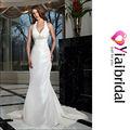 blanco ll6088 sexy vestido de boda vestido de tafetán tela