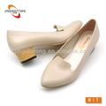 chunky de tacón bajo las mujeres de moda los zapatos de oficina