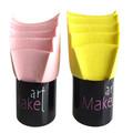 base de maquillaje kabuki esponja soplo de polvo