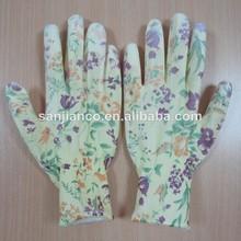 pu recubierto de nylon guantes