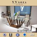con estilo contemporáneo antecomedores mesa extensible con tapa de cristal