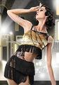 pendão franja samba rumba vestido de dança salsa