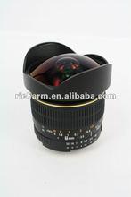 lente de 8m m F/3.5 Fisheye para FOE 7D T1i XSi 50D 60D 40D 30D 20D de Canon