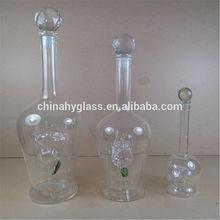 Pequeñas botellas de vidrio para el aceite de oliva, licor de lujo pequeñas botellas de vidrio