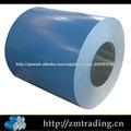 bobina galvanizada prepintada material de acero para la hoja de material para techos