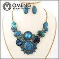 africano moda colar de pérola jóias conjunto ternos gema