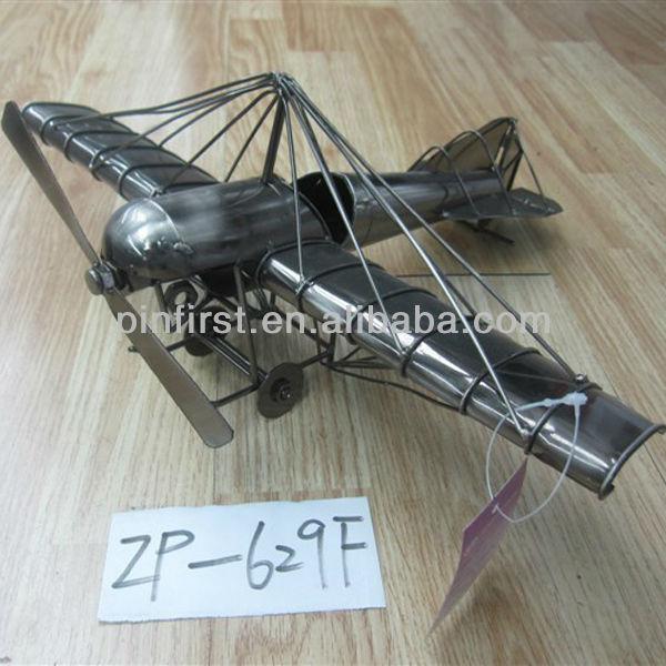 rare vintage mecánico fino arte de hierro antiguo modelo de avión