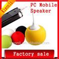 3.5mm jack mini alto-falante móvel, bateria de alto-falante spong