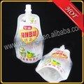 bebida bolsa con el canalón para el envasado de leche de soya
