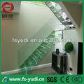 escalera de cristal templada y escalera de la L-Forma