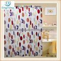 tecido de poliéster colorido cortinas de chuveiro reciclados