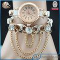 Reloj de las mujeres de moda de la muñeca de tipo cadena caliente de la venta del comercio internacional