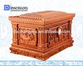 Vente en gros funéraire cercueil en métal/cercueils en carton