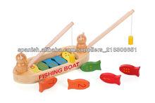 madera juego de peces de juguete