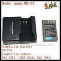 lítio carregador de bateria MH-23 para Nikon DSLR D40, D40 DSLR