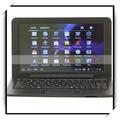 "9"" via8880 dual- núcleo 4g mejor chino androide ordenador portátil con negro shell negro teclado"