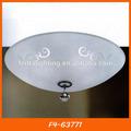 F4-63771 thailandaises éclairage plafonnier en verre, ronde de plafond lampe thai