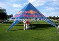 Publicidade da red bull star tenda para venda/estrela de promoção copa com impressão