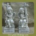 los gemelos polyresin niño los ángeles jardín figuras