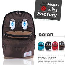 senkey estilo de la moda de los animales en forma de pato precioso de la escuela mochila