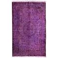 Hecho a mano alfombras turcas- púrpura sobre- teñido de alfombras( 9,3 x 5,7 pies)