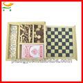 4 1 en combinación de madera juego de conjunto de madera domino