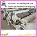 Tecido de algodão de resíduos máquina de reciclagem de/máquina de reciclagem de resíduos de algodão