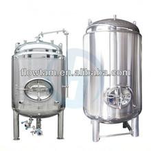 Sanitaria de acero inoxidable brillante tanque de uso para la cerveza, vino, el vodka