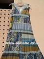 imprimé ethnique en voile de coton tissus patch fait imprimer longues robes des femmes