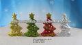 árbol de navidad iluminado de cerámica