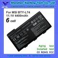 Batería del ordenador portátil de msi bty-l74 batería del ordenador portátil