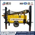 DFQ-200W tipo de rueda neumática perforador de pozos de agua