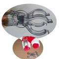 clips de plástico para la ropa de plástico suspensión de ropa clips