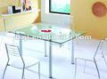 baratos extensible moderno de cristal templado mesa de la cena xs1230