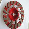 Copo de metal- em forma de roda de moagem de concreto CW- 18S180