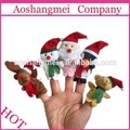 venta al por mayor divertido hermosa navidad navidad de peluche marioneta del dedo