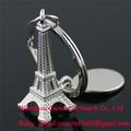 Personalizado llavero de metal de los fabricantes en china/3d torre eiffel llavero