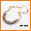 collar de perlas multicolor cilindro marca de moda