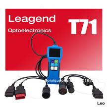 Nuevo 2013 pesado de camiones de diagnóstico de problemas del escáner lector de código de auto scan tool t71, mejor venta
