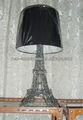 paris torre eiffel francesa temático lâmpada de tabela com máscara de pano