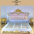 Nueva cama europea clásica en madera tallada